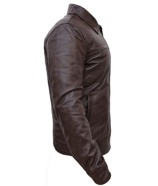 Don Cheadle Traitor Samir Horn Brown Leather Jacket