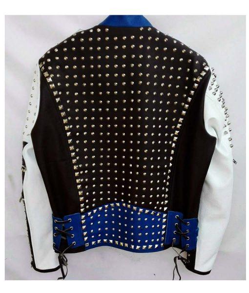 Men Blue Studded jacket