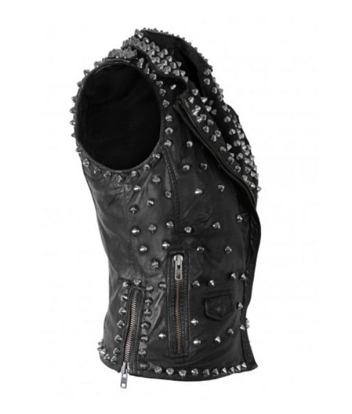 Silver Spikes Studded Vest