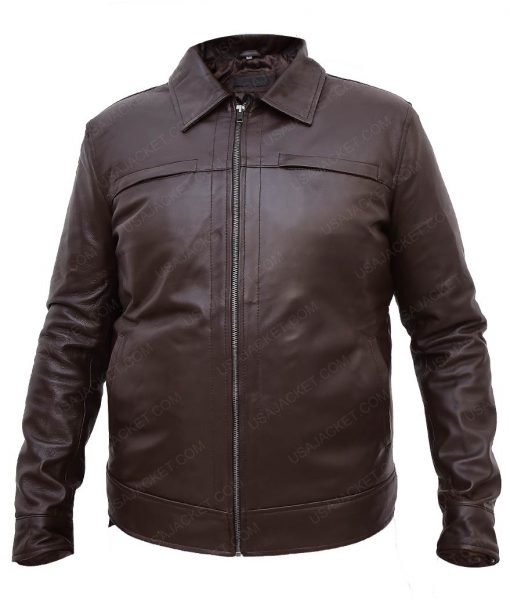 Traitor Samir Horn Leather Jacket