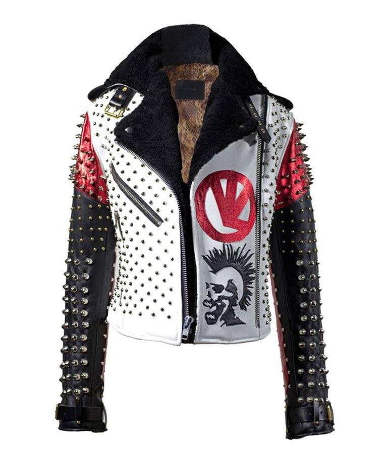 Men,s Rider White Performer Leather Jacket Motorcycle Leather Jacket