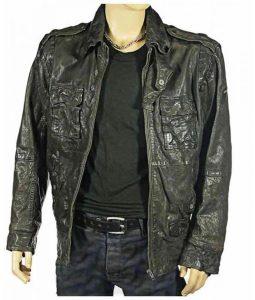 Warrick Grier Dredd Caleb Green Leather Jacket
