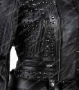 Womens Black Biker Jacket