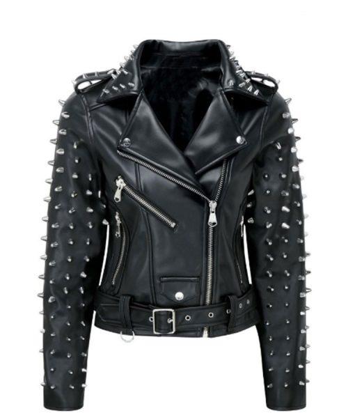 biker spikes studs jacket