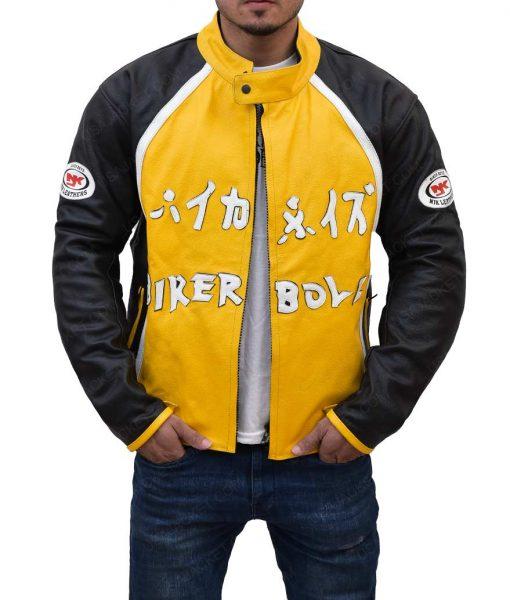 Biker Boyz Yellow Leather Jacket