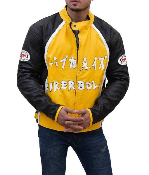 Biker Boyz Yellow Motorcycle Jacket