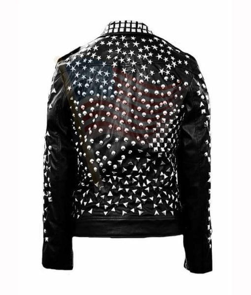 USA Black Studs Jacket