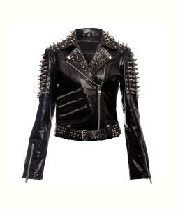 Womens Spikes Leather Jacket