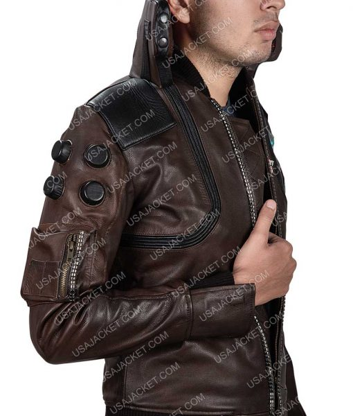 Cyberpunk 2077 Samurai Character V Light-up Leather Jacket