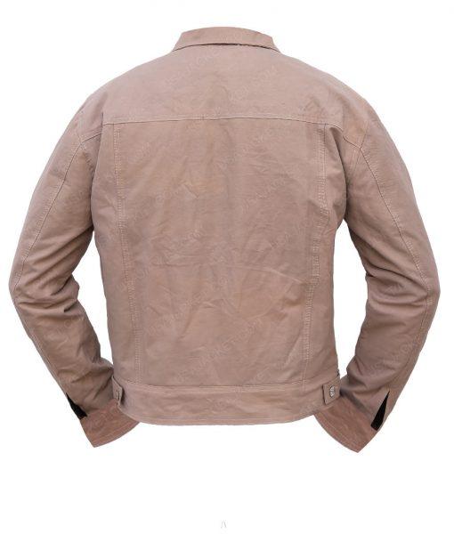Bradley Cooper A Star Is Born Jackson Maine Beige Cotton Jacket