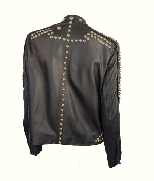 Golden Studded Kendall Jenner Jacket