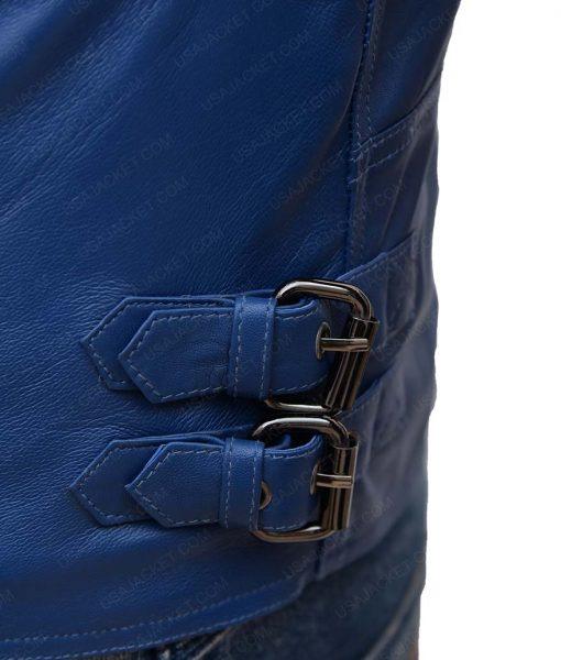 Men's Designer Asymmetrical Shearling Jacket