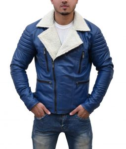 Designer Asymmetrical Shearling Jacket