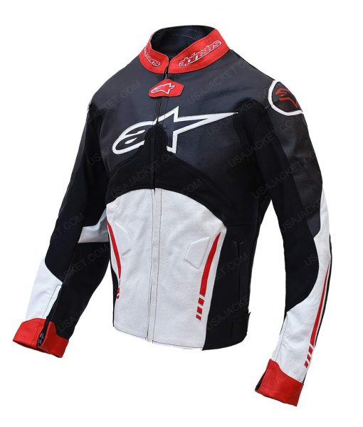 Mens Alpinestars Atem Biker Leather Jacket