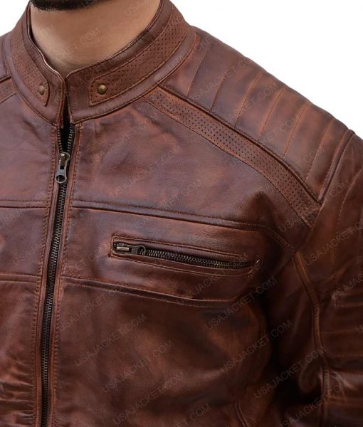 Mens Shoulder Brown Jacket