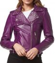 Purple Studded jacket