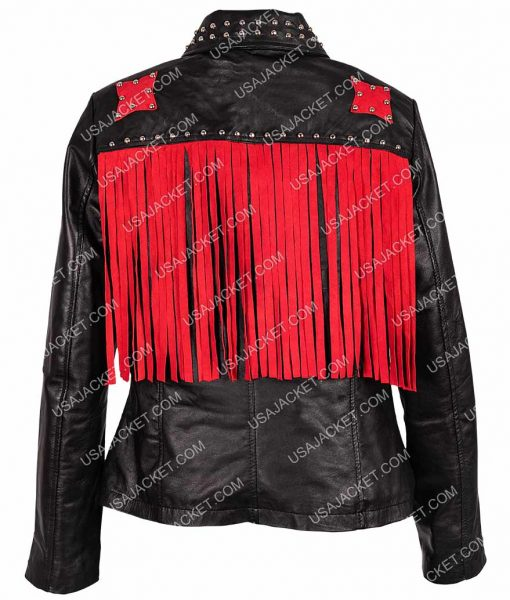Raffey Cassidy Biker jacket