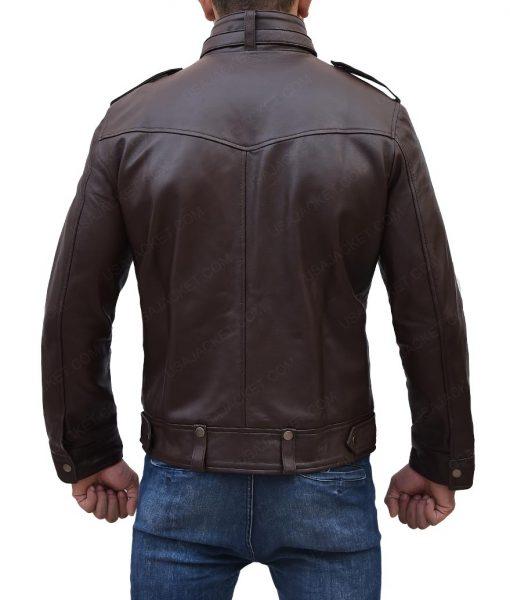 Strap Pocket Dark Brown Jacket