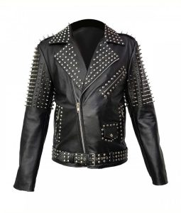 spikes studded black jacket