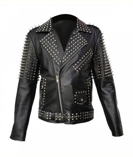 Spikes Studds Belted Jacket