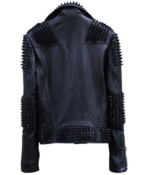 Spikes Studs leather jacket