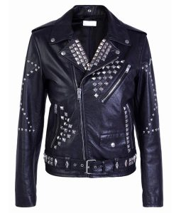 Silver Studded Black Jacket