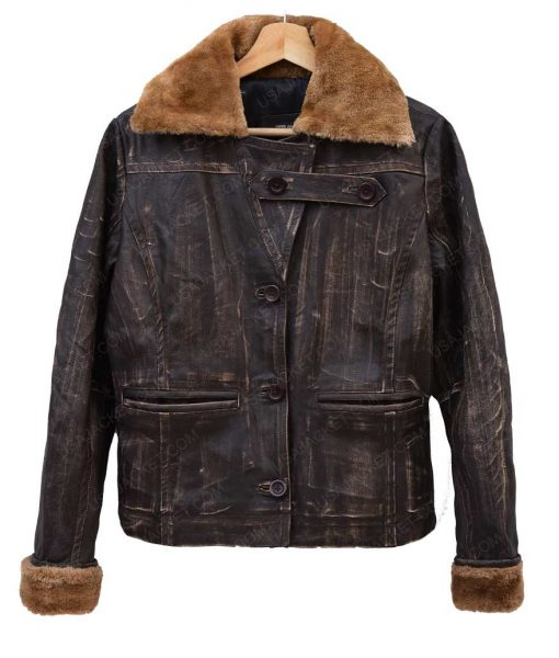 Womems Bomber Leather Jacket