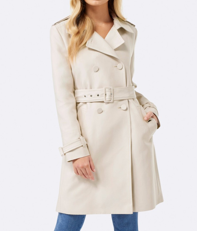f0b75d6faaa17 Riverdale S02 Betty Cooper Cream hue Trench Coat