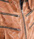Bronze Tiger Arrow Biker Jacket
