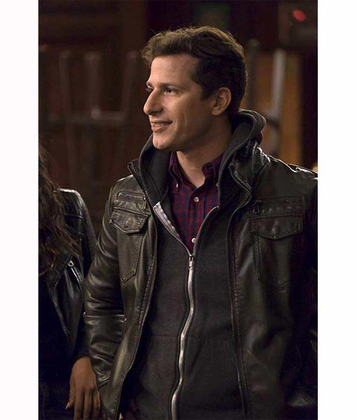 black leather jake jacket
