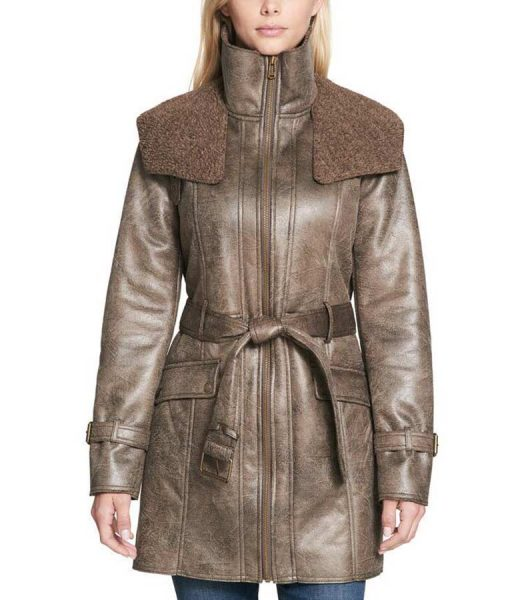 Brown Duster Trench Coat