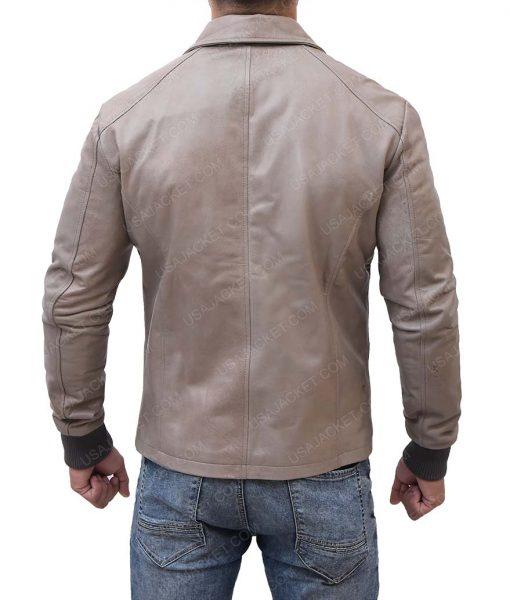 Slimfit Brown Leather Jacket