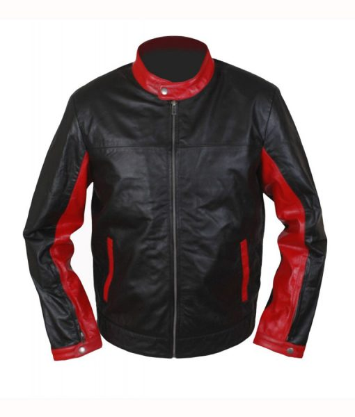 Burce wayne cafe racer jacket