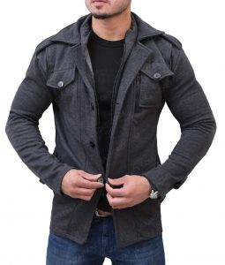 Mens Grey Wool Jacket