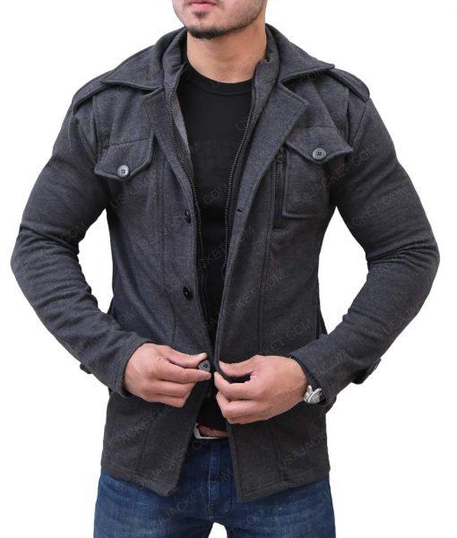 Casual Grey Wool Jacket
