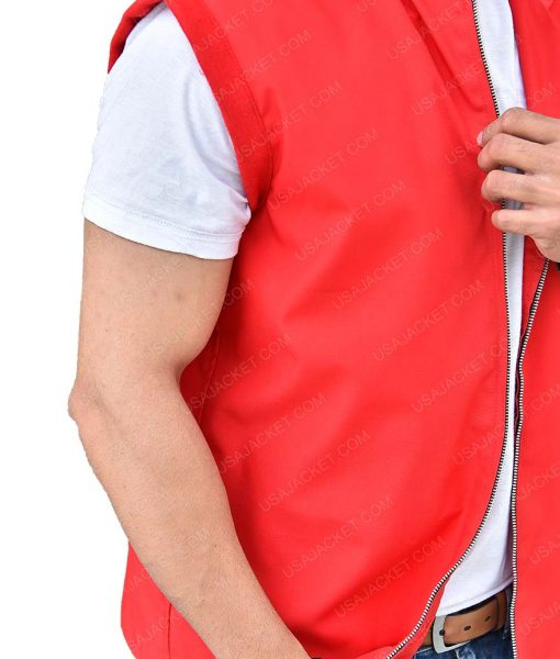Adonis Johnson Michael B. Jordan Red Hooded Vest