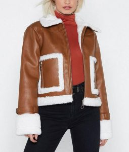 Cropped Fur Bomber jacket