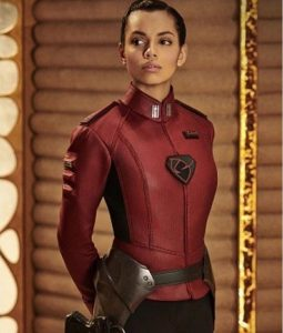 Krypton TV Series Lyta-Zod Georgina Campbell Red Costume Jacket