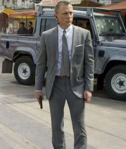 James Bond Daniel Craig Skyfall Grey Suit