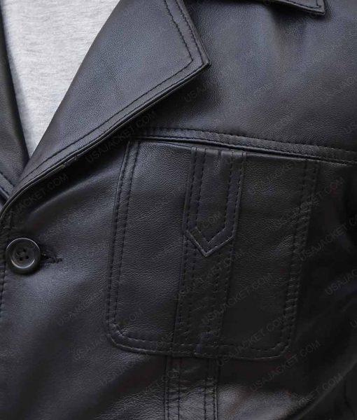 John Simm Life On Mars Sam Tyler Black Leather Jacket
