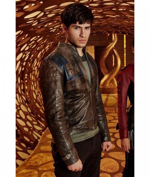 Krypton TV Series Seg-El Cameron Cuffe Brown Cafe Racer Jacket