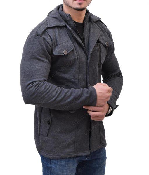Mens Casual Grey Wool Jacket
