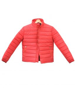 Mens Down Puffer Burgundy Jacket