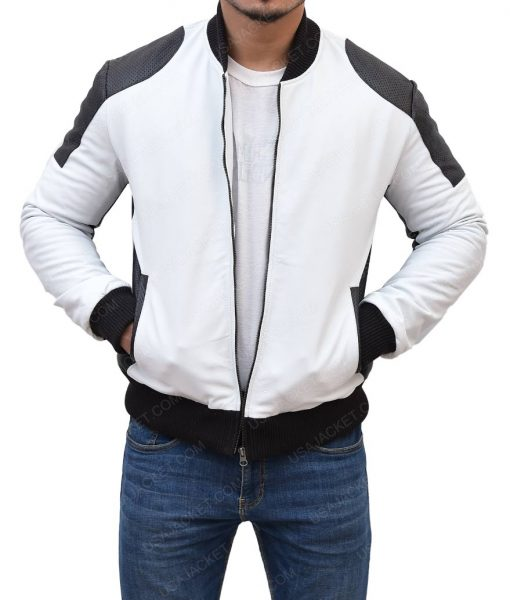 Joliet White Moto Jacket