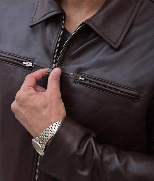 Mens Slimfit Brown Jacket