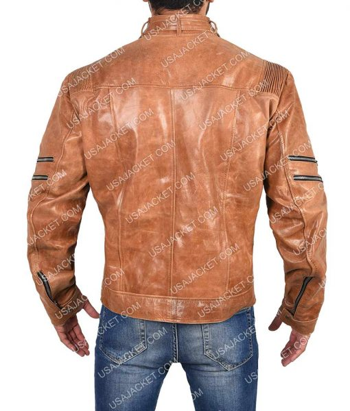 Michael Jai Arrow Leather Jacket