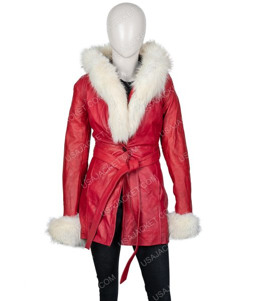 Mrs. Claus The Christmas Chronicles Leather Jacket