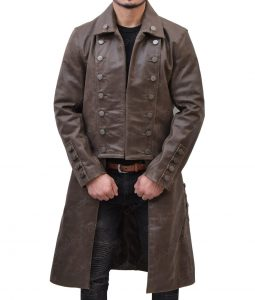 Jamie Frasers Outlander Sam Heughan Leather Coat