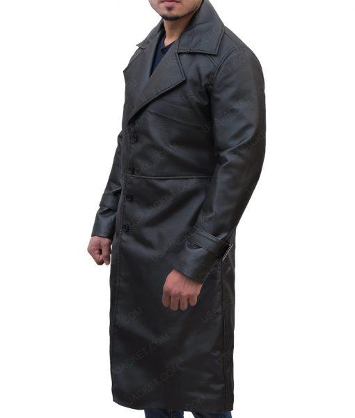Resident Evil 5 Black Leather Coat