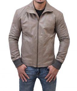 Reynolds Slimfit Brown Leather Jacket